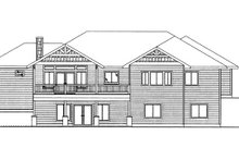 Architectural House Design - Craftsman Exterior - Rear Elevation Plan #117-858