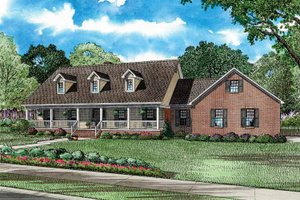 Country Exterior - Front Elevation Plan #17-2738