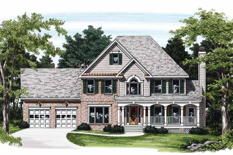 Colonial Exterior - Front Elevation Plan #927-117