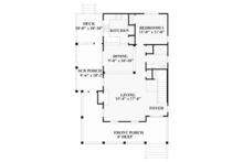Traditional Floor Plan - Main Floor Plan Plan #991-23