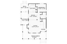 Traditional Floor Plan - Main Floor Plan Plan #991-23