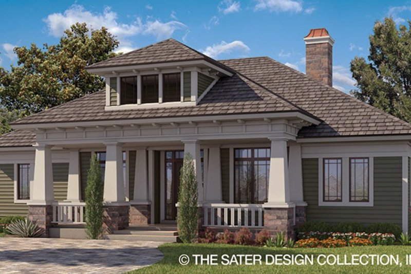 Craftsman Style House Plan - 3 Beds 2.5 Baths 2337 Sq/Ft Plan #930-462 Exterior - Front Elevation
