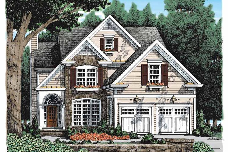 Country Exterior - Front Elevation Plan #927-924