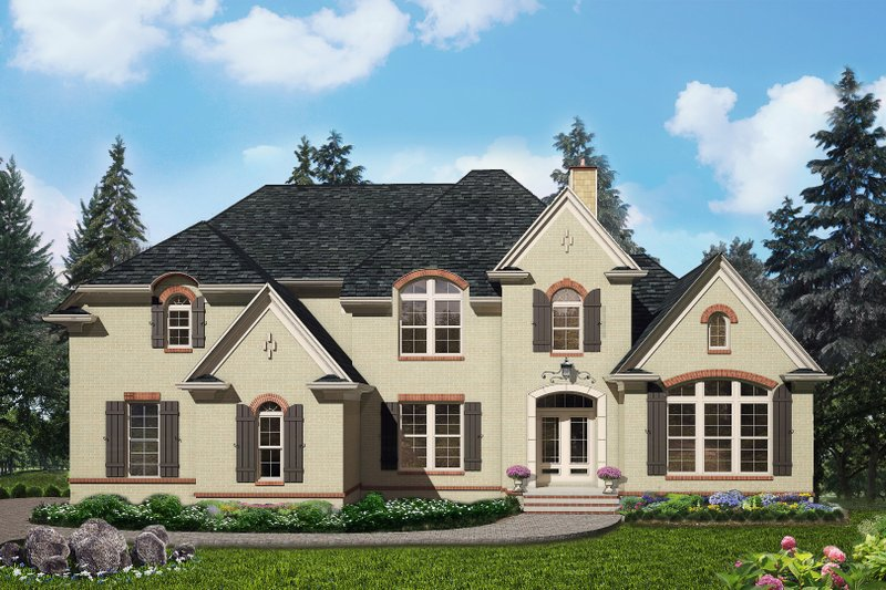 Architectural House Design - Traditional Exterior - Front Elevation Plan #54-409
