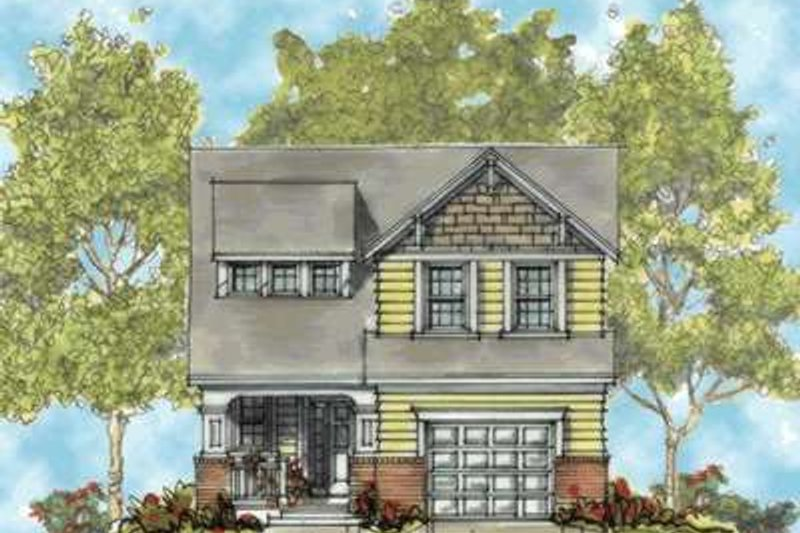 Craftsman Exterior - Front Elevation Plan #20-1656