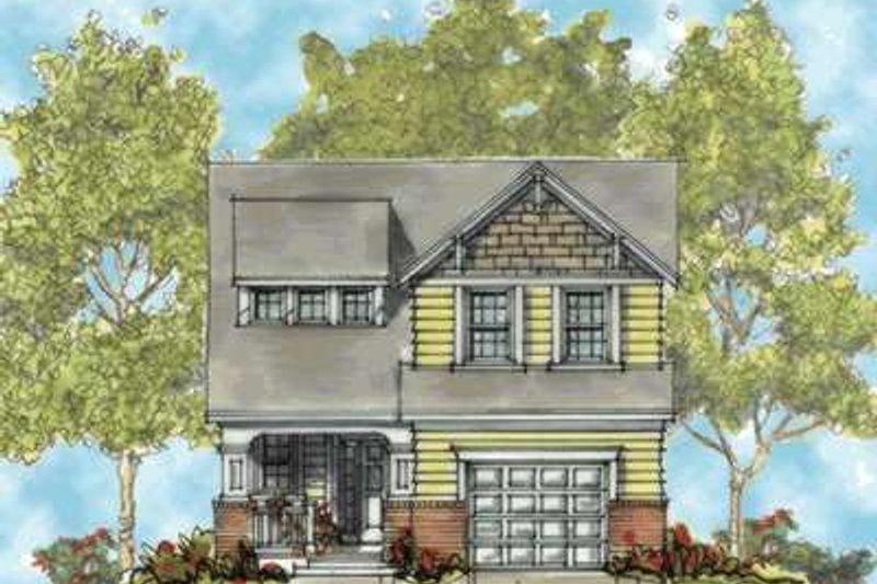 Craftsman Exterior - Front Elevation Plan #20-1656 - Houseplans.com