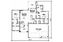 Traditional Floor Plan - Main Floor Plan Plan #20-2178