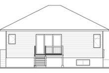 House Plan Design - Contemporary Exterior - Rear Elevation Plan #23-2571