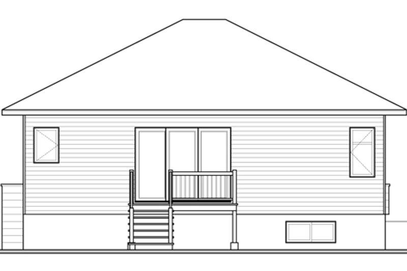 Contemporary Exterior - Rear Elevation Plan #23-2571 - Houseplans.com