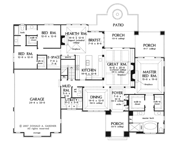 European Floor Plan - Main Floor Plan Plan #929-914