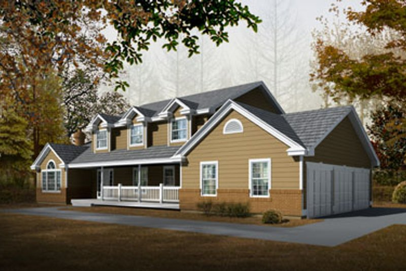 Traditional Style House Plan - 4 Beds 3 Baths 2625 Sq/Ft Plan #94-212 Exterior - Front Elevation