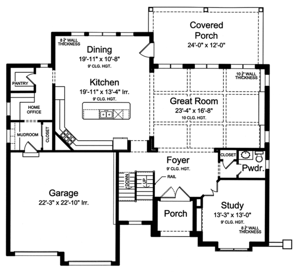 European Floor Plan - Main Floor Plan Plan #46-857