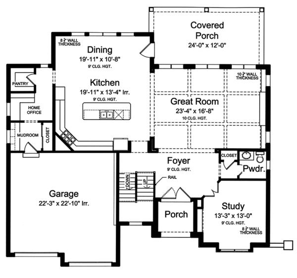House Plan Design - European Floor Plan - Main Floor Plan #46-857