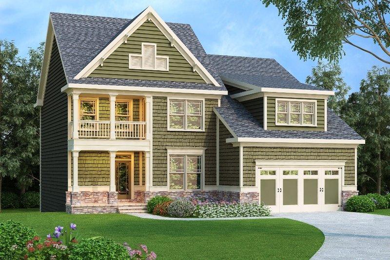 Dream House Plan - Craftsman Exterior - Front Elevation Plan #419-218