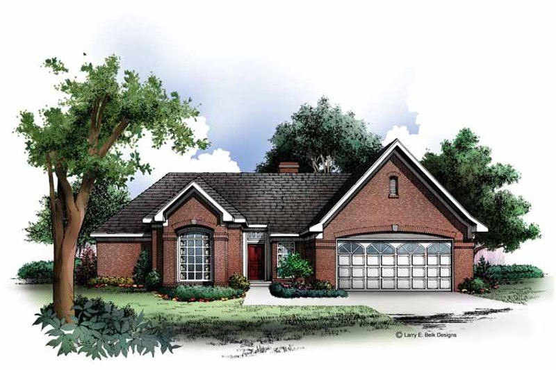 Ranch Exterior - Front Elevation Plan #952-255