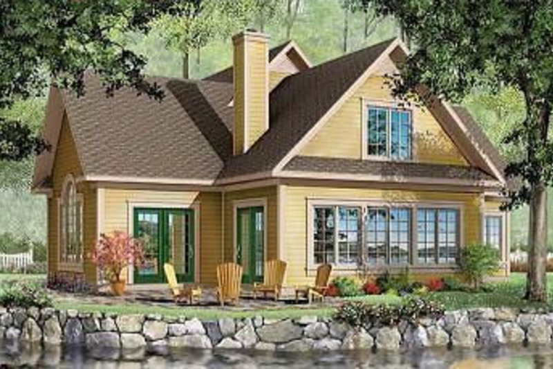 Farmhouse Exterior - Rear Elevation Plan #23-230 - Houseplans.com