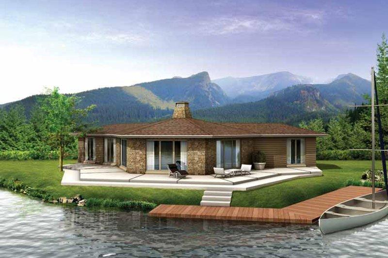 Contemporary Exterior - Front Elevation Plan #72-632 - Houseplans.com