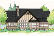 Craftsman Exterior - Rear Elevation Plan #929-935