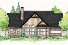 Architectural House Design - Craftsman Exterior - Rear Elevation Plan #929-935