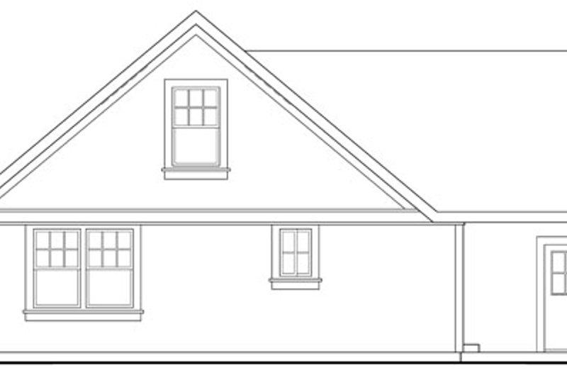 Traditional Exterior - Rear Elevation Plan #124-398 - Houseplans.com