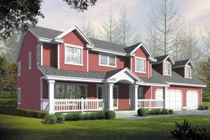Home Plan - Colonial Exterior - Front Elevation Plan #1037-23