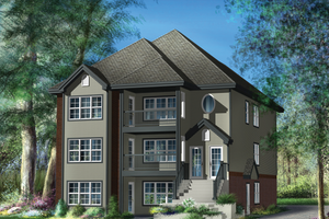 Country Exterior - Front Elevation Plan #25-4612