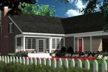 Dream House Plan - Traditional Exterior - Rear Elevation Plan #406-281
