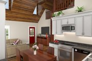 Cottage Style House Plan - 2 Beds 1 Baths 1016 Sq/Ft Plan #21-441 Interior - Kitchen