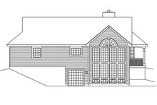 Architectural House Design - Traditional Exterior - Rear Elevation Plan #57-185