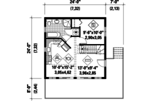 Cabin Floor Plan - Main Floor Plan Plan #25-4272