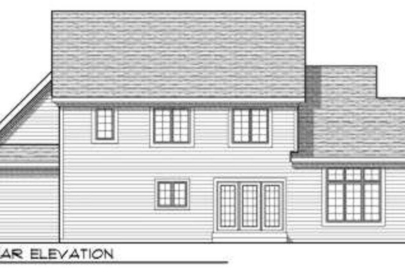 Traditional Exterior - Rear Elevation Plan #70-702 - Houseplans.com