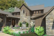 Craftsman Style House Plan - 4 Beds 4 Baths 4164 Sq/Ft Plan #120-186 Exterior - Other Elevation