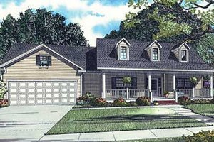 Traditional Exterior - Front Elevation Plan #17-1160