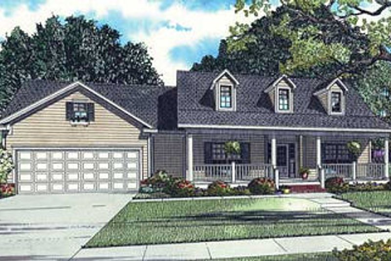 Dream House Plan - Traditional Exterior - Front Elevation Plan #17-1160