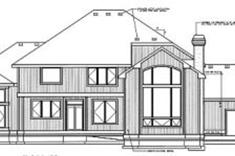 European Exterior - Rear Elevation Plan #93-212 - Houseplans.com
