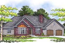 Dream House Plan - Traditional Exterior - Front Elevation Plan #70-652