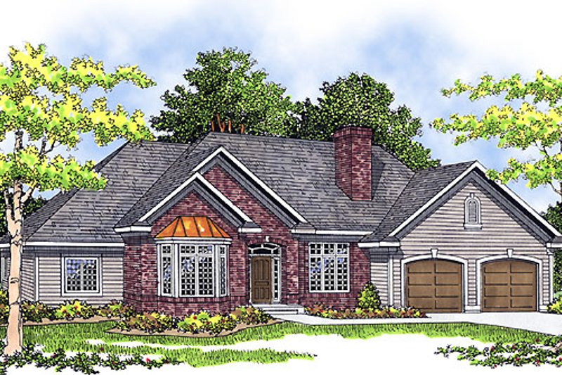 Traditional Exterior - Front Elevation Plan #70-652