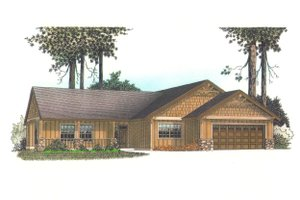 Architectural House Design - Craftsman Exterior - Front Elevation Plan #53-581