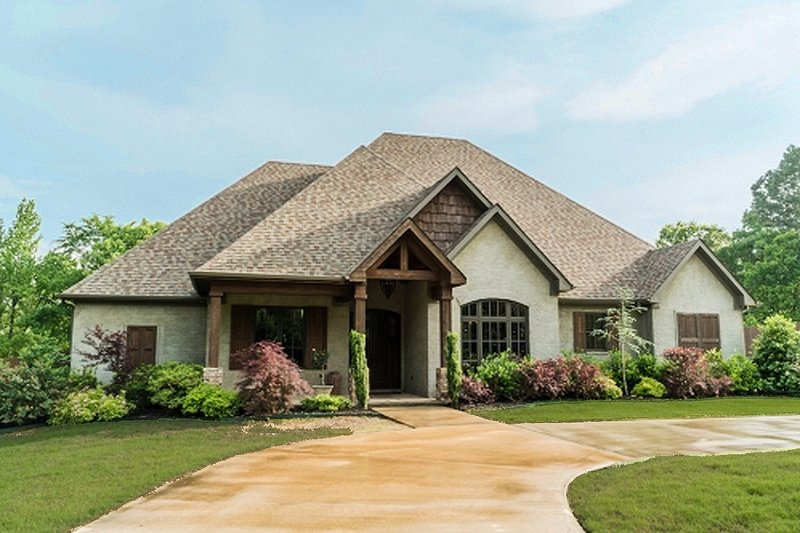European Style House Plan - 4 Beds 2.5 Baths 2556 Sq/Ft Plan #923-76 Exterior - Front Elevation