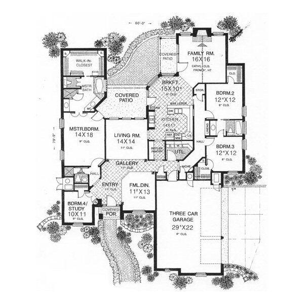 European Floor Plan - Main Floor Plan #310-600