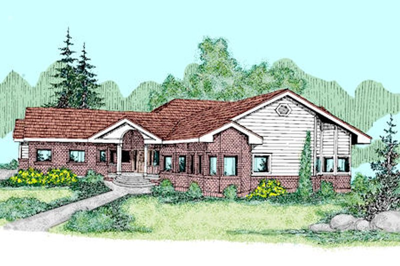 Traditional Exterior - Front Elevation Plan #60-251 - Houseplans.com
