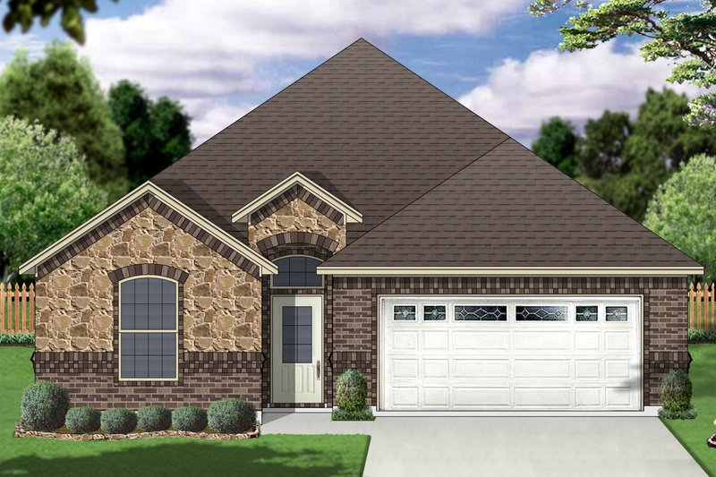 Traditional Exterior - Front Elevation Plan #84-577 - Houseplans.com
