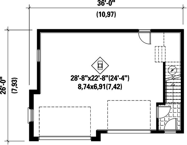 Traditional Floor Plan - Main Floor Plan Plan #25-4624