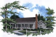 Farmhouse Style House Plan - 3 Beds 2 Baths 1333 Sq/Ft Plan #41-107 Exterior - Front Elevation