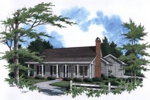 Dream House Plan - Farmhouse Exterior - Front Elevation Plan #41-107