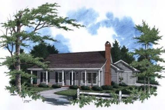 Farmhouse Exterior - Front Elevation Plan #41-107