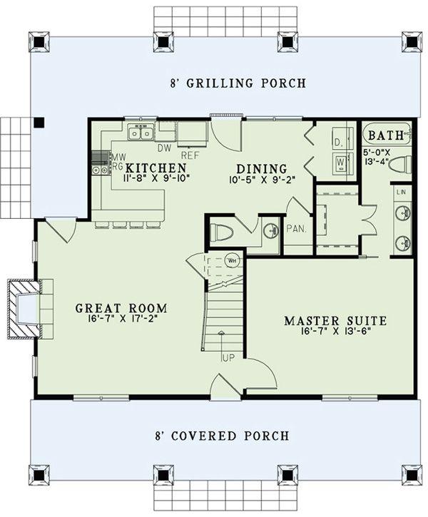 Country Floor Plan - Main Floor Plan #17-2521