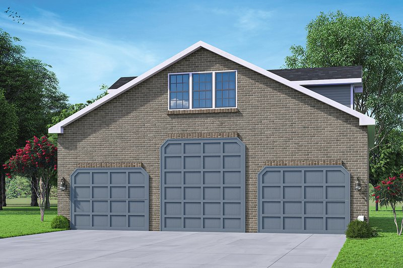 Architectural House Design - Traditional Exterior - Front Elevation Plan #124-1227
