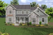 Country Style House Plan - 5 Beds 5 Baths 2698 Sq/Ft Plan #56-543 Exterior - Other Elevation