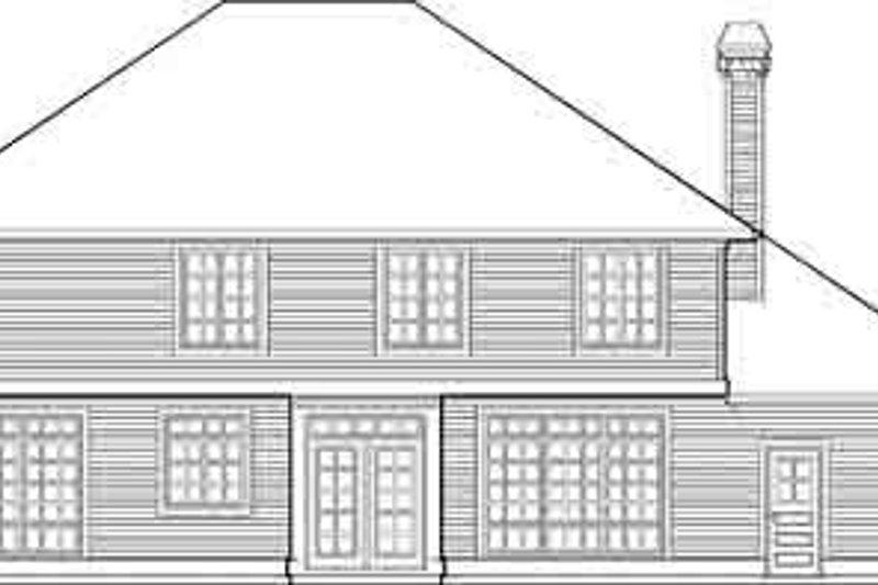 Craftsman Exterior - Rear Elevation Plan #48-219 - Houseplans.com